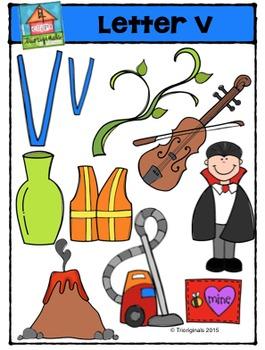 Letter V - Alphabet Pictures {P4 Clips Trioriginals Digital Clip Art}