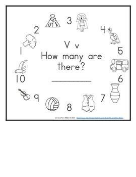 Letter V Counting Books