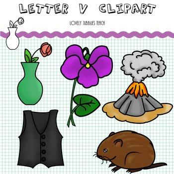 Letter V Clip Art