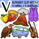 Letter V Clip Art Alphabet / Beginning Sound V