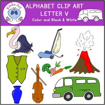 Letter V Clip Art {Beginning Sounds} Alphabet