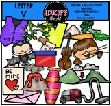 Letter V Clip Art Bundle {Educlips Clipart}