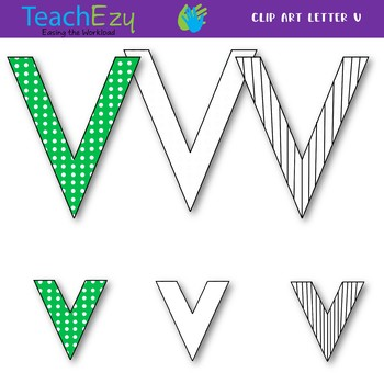 Letter V Clip Art Pack