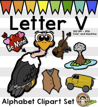 Letter V Clip Art - Phonics Clipart Set/Beginning Sounds