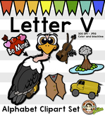 Alphabet Clip Art: Letter V Phonics Clipart Set - Clip Art