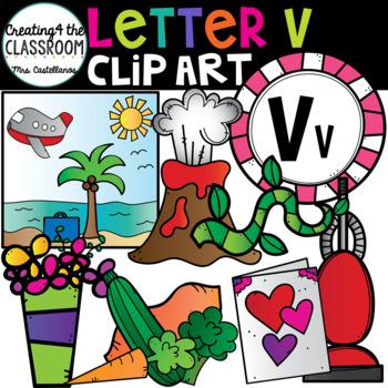 Letter V Clipart {Alphabet Clip art}