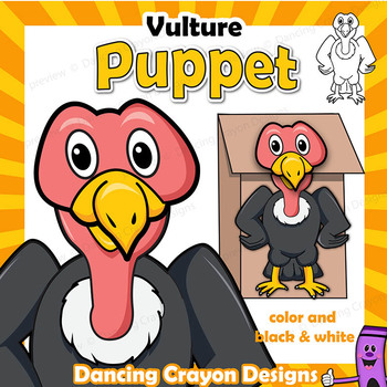 Letter V Craft - Paper Bag Puppet Vulture