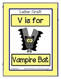 Letter V Craftivity - Vampire Bat - Zoo Phonics Inspired -