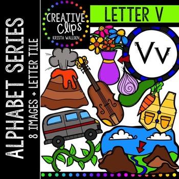 Letter V {Creative Clips Digital Clipart}