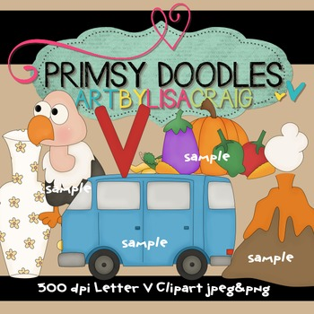Letter V Early Learning Clipart