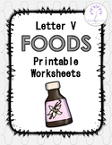 Letter V Foods Printable Worksheets
