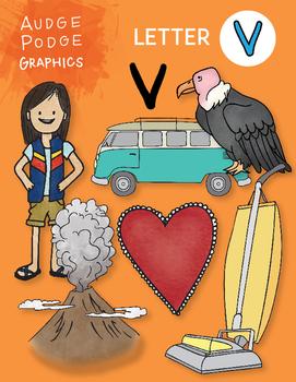 Letter V Graphics