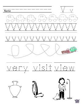 Letter V Handwriting