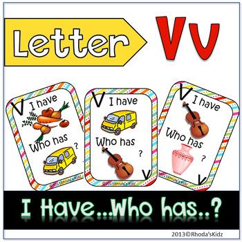 "Letter V  ""I have... Who has?"""