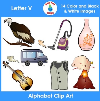Letter V Phonics Clip Art Set