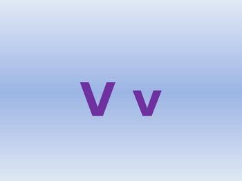 Letter V PowerPoint