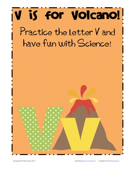 Letter V Practice Packet with a Bit of Science