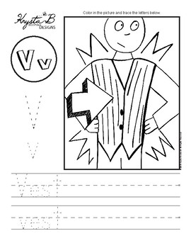 Letter V Trace and Write Worksheet Pack