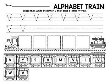 Letter V Train
