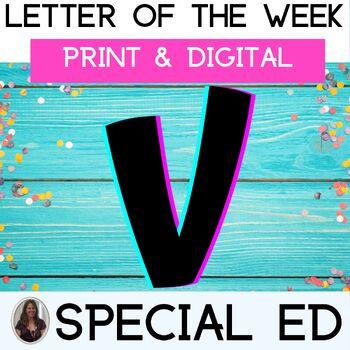 Letter of the Week Letter V Unit for Special Education