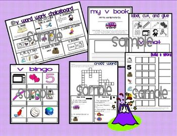 Letter V Word Work Literacy Stations and Centers