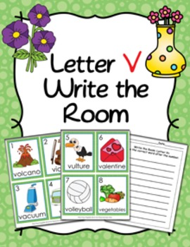 Letter V Words Write the Room Activity