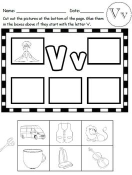 Letter V Worksheets!
