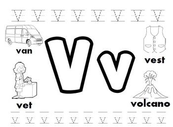 Letter V Worksheets! by Kindergarten Swag   Teachers Pay Teachers