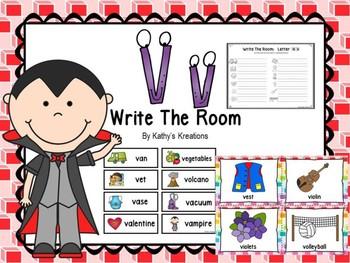 Letter V Write The Room