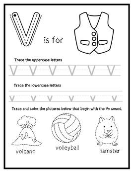 Letter V from the Alphabet Mega Bundle/Letter of the Week