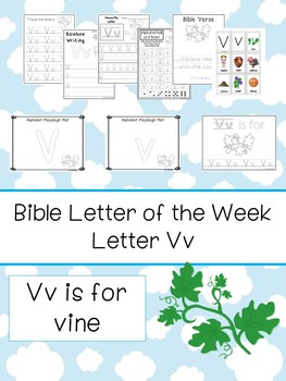 Letter V is for vine. Bible Letter of the Week.