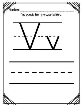 Aprendiendo la Letra V
