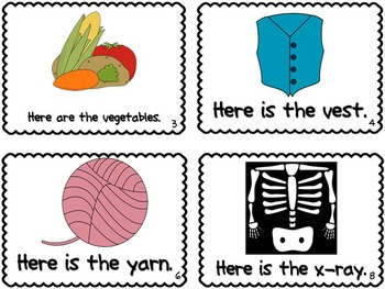 Letter V,Y,&X Book of Beginning Sounds-Emergent Reader w/R Record-CCSS Aligned