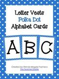 Letter Vests Alphabet Cards (Small Polka Dot - Blue)