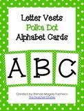 Letter Vests Alphabet Cards (Small Polka Dot - Green)