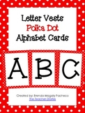 Letter Vests Alphabet Cards (Small Polka Dot - Red)