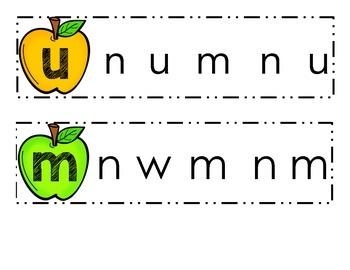 Letter Visual Discrimination, Dual Language