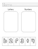 Letter Vs. Number Sort