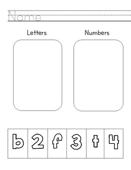 Letter Vs. Number Sort
