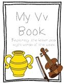 Letter Vv Book