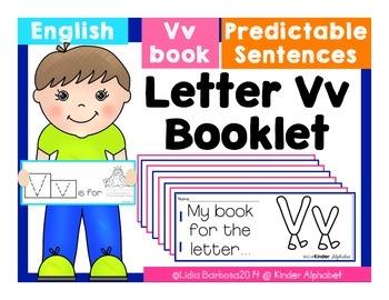 Letter Vv Booklet- Predictable Sentences