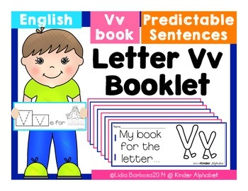 Letter Vv Booklet- Predictable Sentences