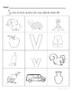 Letter Vv Words Coloring Worksheet
