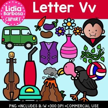 Letter Vv Digital Clipart