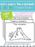 Letter Vv *Editable* Alphabet Emergent Reader