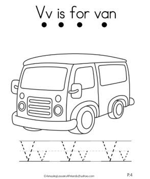 Letter Vv Journal for Toddlers