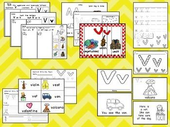 Letter Vv Mega Pack- Kindergarten Alphabet- Handwriting, Little Books, and MORE!