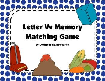 Letter Vv Memory Game