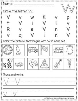 Letter Vv Practice (RTI)
