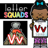 Letter Vv Squad: DAILY Letter of the Week Digital Alphabet